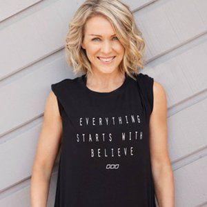 Lorna Jane Everything starts with Believe tee